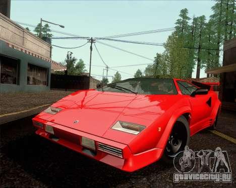 Lamborghini Countach LP500 Quattrovalvole 1988 для GTA San Andreas вид сзади слева