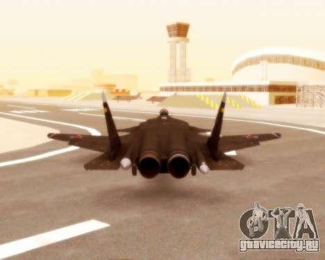 Су-47 Беркут v1.0 для GTA San Andreas вид изнутри