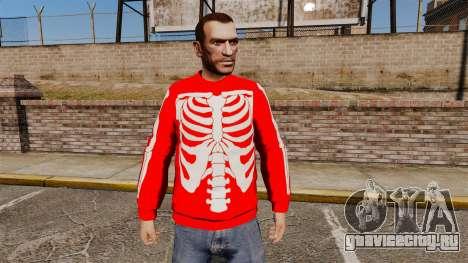 Красный свитер -Скелет- для GTA 4