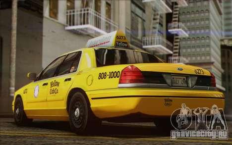 Ford Crown Victoria LA Taxi для GTA San Andreas вид изнутри