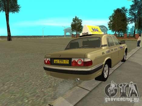 ГАЗ 31105 Волга Такси для GTA San Andreas вид справа