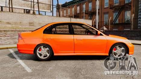 Honda Civic VTEC для GTA 4 вид слева