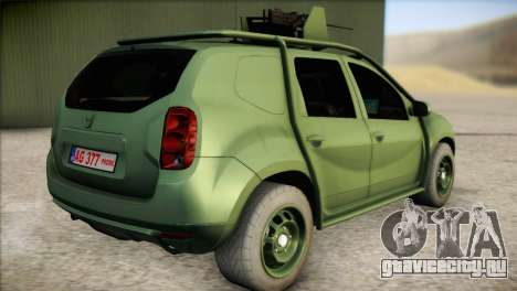 Dacia Duster Army Skin 1 для GTA San Andreas вид слева