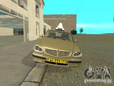 ГАЗ 31105 Волга Такси для GTA San Andreas вид слева