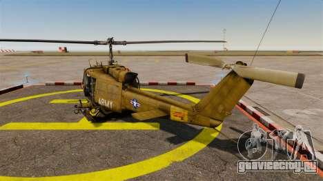 Bell UH-1 Iroquois v2.0 Gunship [EPM] для GTA 4 вид сзади слева