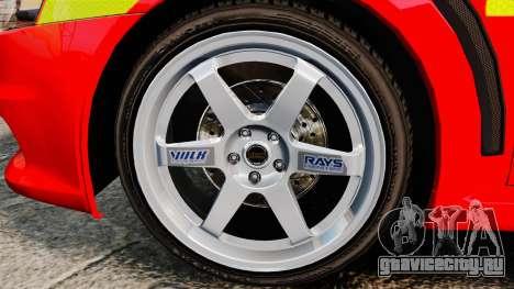 Mitsubishi Lancer Evo X Fire Department [ELS] для GTA 4 вид сзади