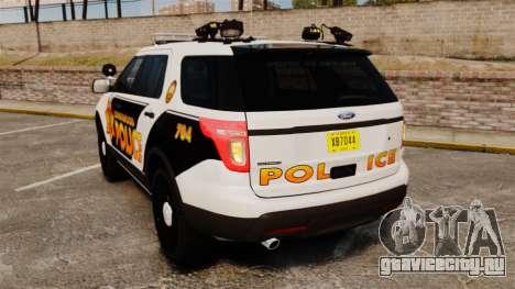 Ford Explorer 2013 Longwood Police [ELS] для GTA 4 вид сзади слева