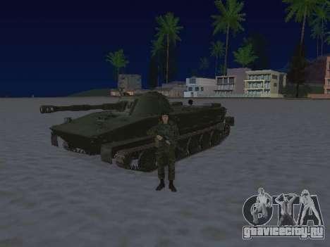 ПТ-76 для GTA San Andreas вид сзади слева