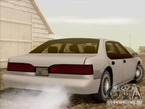 Fortune Sedan для GTA San Andreas вид слева
