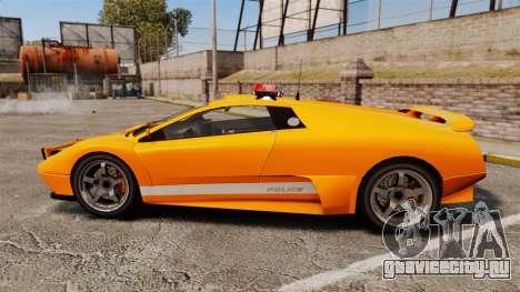 Infernus Police для GTA 4 вид слева