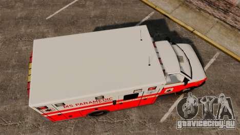 Brute Ambulance FDLC [ELS] для GTA 4 вид справа