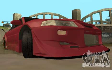 Mitsubishi Lancer Evolution VI для GTA San Andreas вид сзади