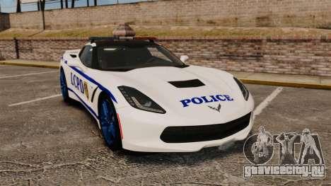 Chevrolet Corvette C7 Stingray 2014 Police для GTA 4
