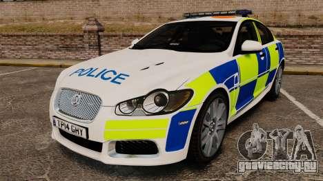 Jaguar XFR 2010 British Police [ELS] для GTA 4