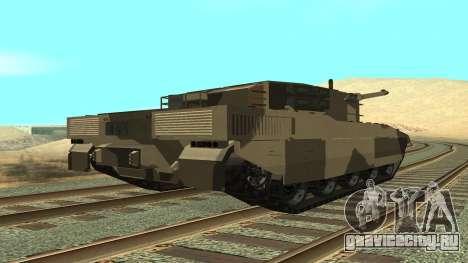 GTA V Rhino для GTA San Andreas вид слева