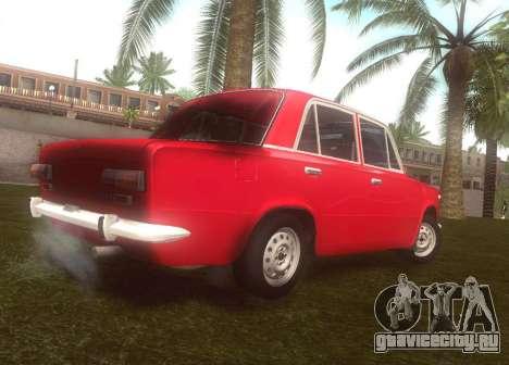 Fiat 124 для GTA San Andreas вид сзади слева