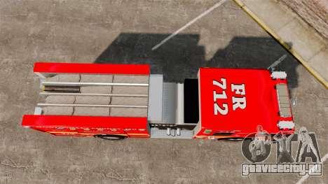 Crimson Spartan Gladiator Firetruck [ELS] для GTA 4 вид справа