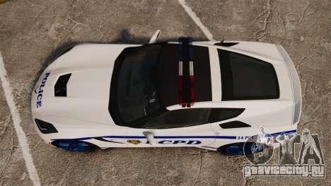Chevrolet Corvette C7 Stingray 2014 Police для GTA 4 вид справа