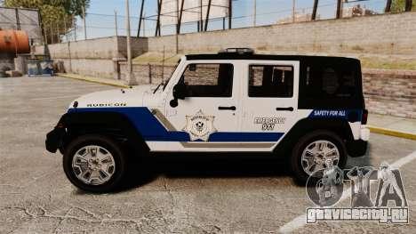 Jeep Wrangler Rubicon Police 2013 [ELS] для GTA 4 вид слева