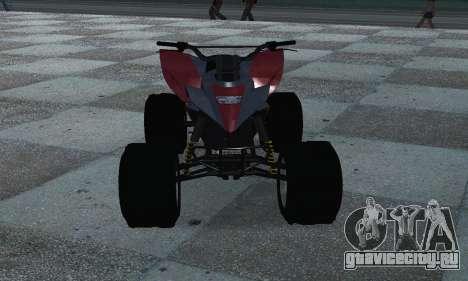GTA 5 Blazer ATV для GTA San Andreas вид сзади