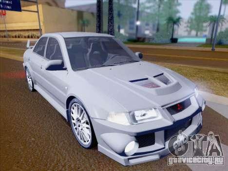 Mitsubishi Lancer Evolution VI LE для GTA San Andreas вид снизу