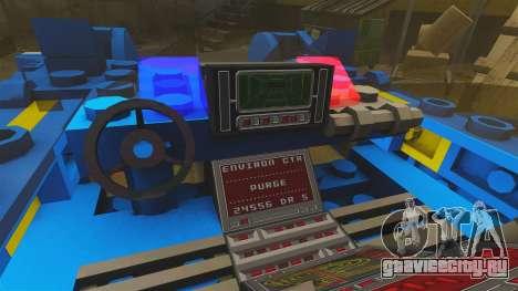 Lego Car Blade Runner Spinner [ELS] для GTA 4 вид сзади