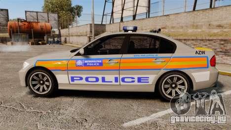 BMW 330 Metropolitan Police [ELS] для GTA 4 вид слева