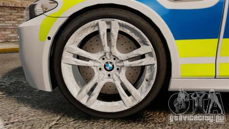 BMW M5 Marked Police [ELS] для GTA 4 вид сзади