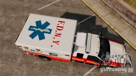 Ford F-350 2013 FDNY Ambulance [ELS] для GTA 4 вид справа