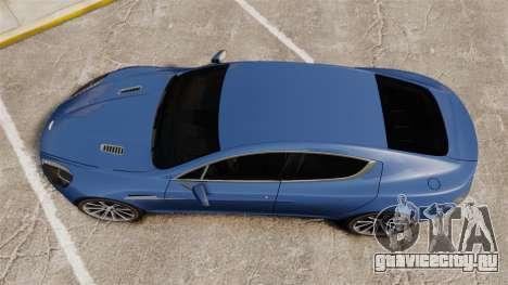 Aston Martin Rapide 2010 для GTA 4 вид справа