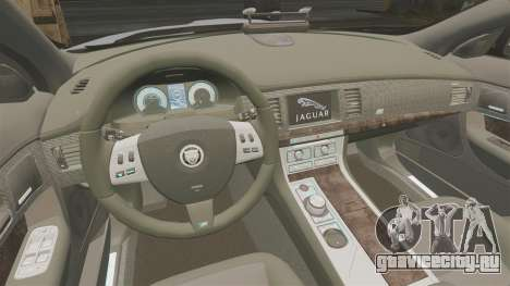 Jaguar XFR 2010 Police Unmarked [ELS] для GTA 4 вид изнутри
