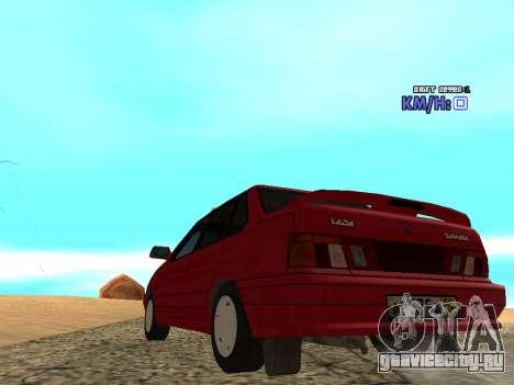 ВАЗ 2115 Такси для GTA San Andreas вид сзади слева