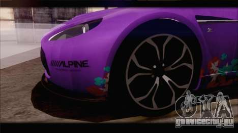 Aston Martin V12 Zagato 2012 [IVF] для GTA San Andreas салон