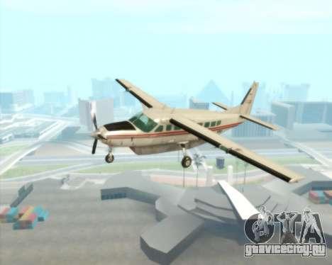 Cessna 208B Grand Caravan для GTA San Andreas вид изнутри