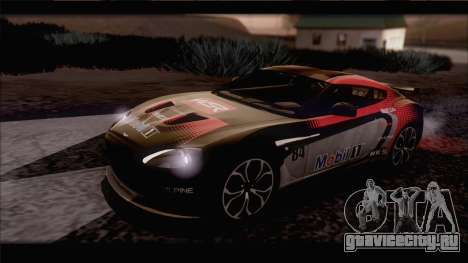 Aston Martin V12 Zagato 2012 [IVF] для GTA San Andreas вид сбоку