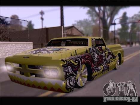 New Slamvan для GTA San Andreas вид изнутри