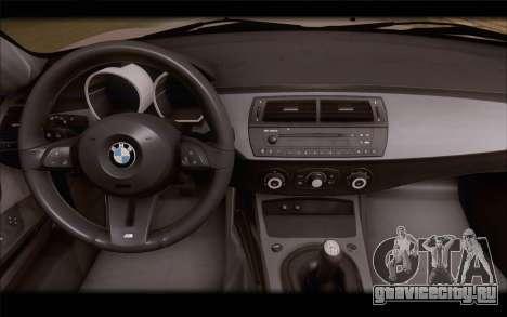 BMW Z4 Stance для GTA San Andreas вид справа
