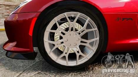 Dodge Viper SRT TA 2014 Rebuild для GTA 4 вид сзади
