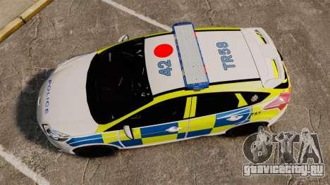 Ford Focus 2013 Uk Police [ELS] для GTA 4 вид справа