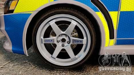 Mitsubishi Lancer Evolution X Police [ELS] для GTA 4 вид сзади