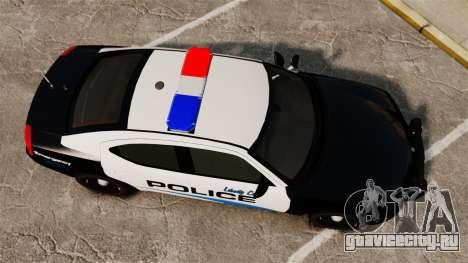 Dodge Charger 2010 Police [ELS] для GTA 4 вид справа