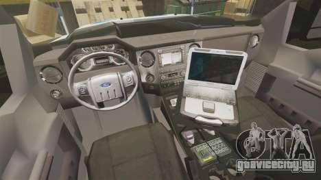 Ford F-550 2012 NYPD [ELS] для GTA 4 вид сзади