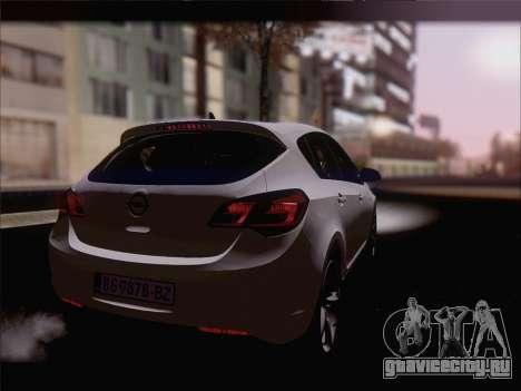 Opel Astra J 2011 для GTA San Andreas вид слева