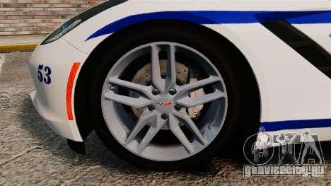 Chevrolet Corvette C7 Stingray 2014 Police для GTA 4 вид изнутри