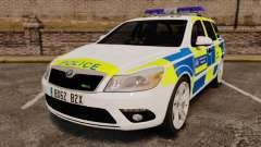Skoda Octavia RS Metropolitan Police [ELS] для GTA 4