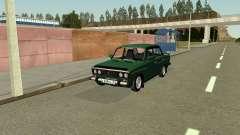 ВАЗ 2106 зелёный для GTA San Andreas