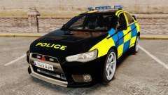 Mitsubishi Lancer Evolution X Uk Police [ELS] для GTA 4