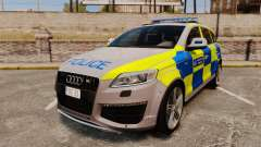 Audi Q7 Metropolitan Police [ELS] для GTA 4