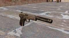 Пистолет SIG-Sauer P226 с глушителем