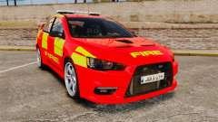 Mitsubishi Lancer Evo X Fire Department [ELS] для GTA 4